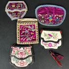 5 Chinese Silk Purses Late Qing/Republic