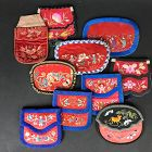 10 Chinese Embroidered Silk Purses Late Qing/Republic