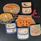 7 Chinese Silk Purses Late Qing/Republic