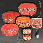 6 Chinese Silk Purses Late Qing/Republic