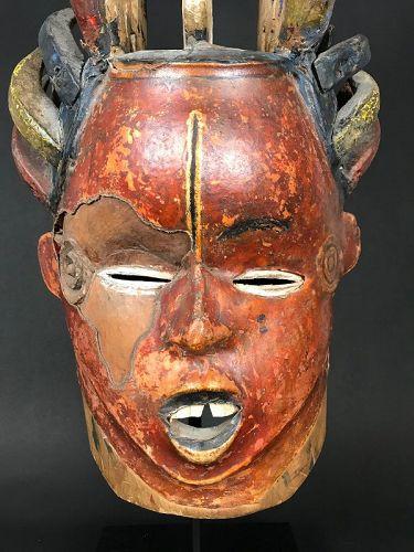 Janiform Mask, Ekoi, Nigeria