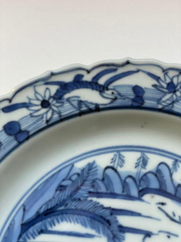 Blue and White plate Ming Jiajing / Wanli 1560-1580