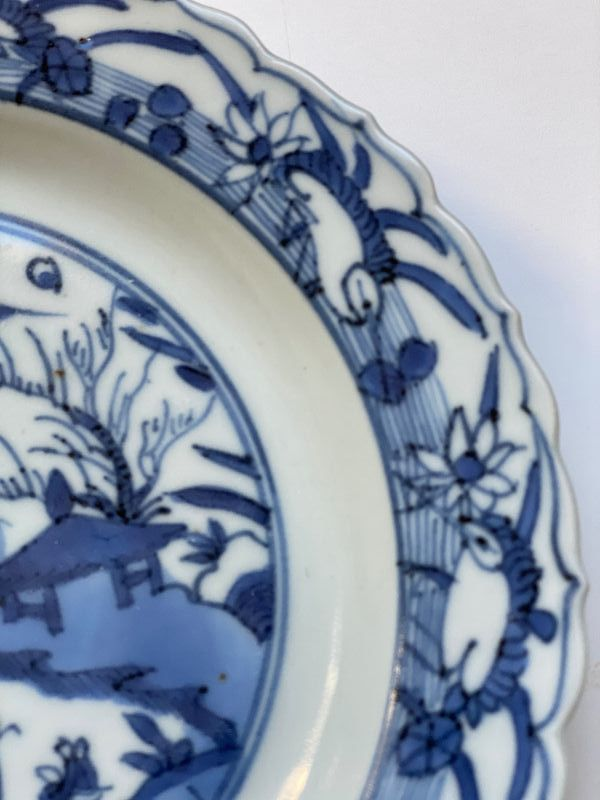 Blue and White plate Ming Jiajing / Wanli 1560-1580