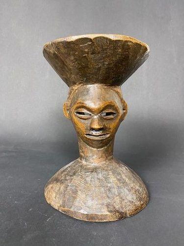 Anthropomorphic Stool, Pende, Congo