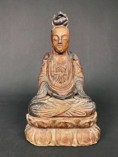 Guanyin, Wood, Ming Dynasty