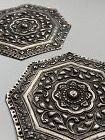 Straits or �Peranakan� Silver Pillow Ends