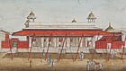 Rare Indian Miniature 'Red Fort Delhi'