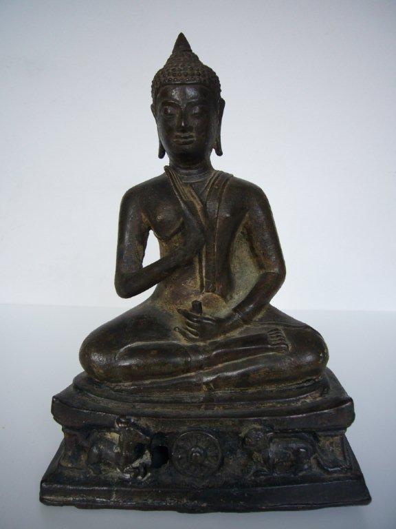 Thai Bronze Ayutthaya Buddha
