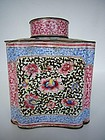 Canton Enamel Tea Caddy