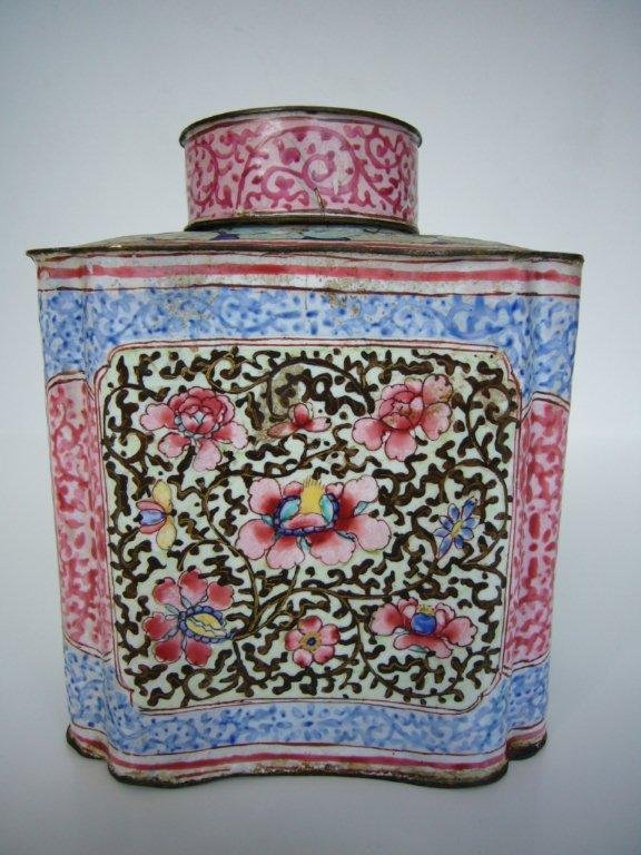 Canton Enamel Tea Caddy