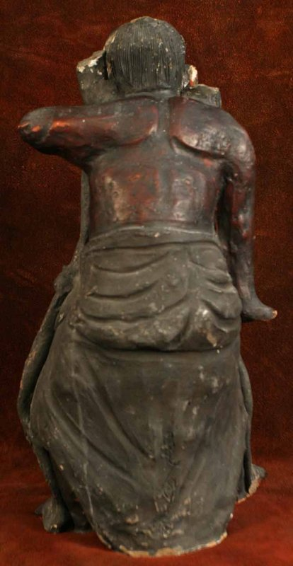 Kamakura Period Sculpture of a Buddhist Guardian King