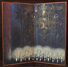 Compassion Goddess Meditation Screen,Kinugawa Masayoshi