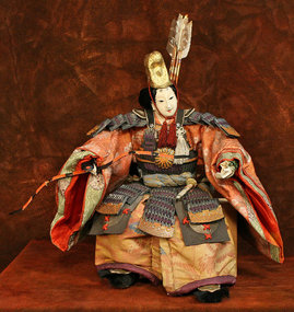 Rare Edo Period Ningyo of the Empress Warrior Jingu