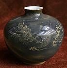 Meiji Period Koransha Porcelain Dragon Vase