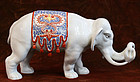 19th Century Japanese Arita Porcelain Elephant