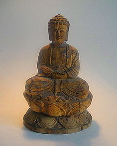 17th Century Japanese Paloma Wood Buddha