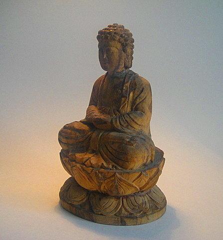 17th Century Japanese Paloma Wood Buddha