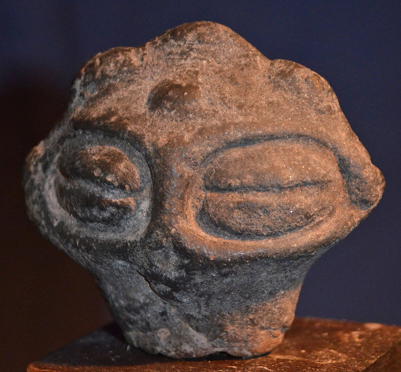 2nd Century BC Jomon Period Japanese Dogu Head