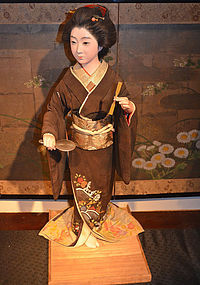 Very Large and Rare 19th Century Bijin Iki Ningyo