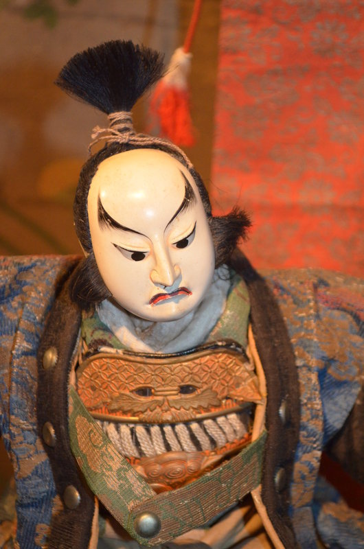 Rare 18th Century Kato Kiyomasa and Attendant Dolls