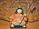 Fine 19th Century Ningyo of Momotaro the Peach Boy