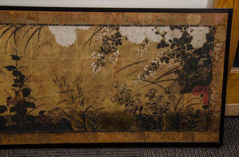 Very Rare Momoyama Period Masterpiece Japanese Screen