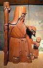 Fine Meiji Period Wood Okimono of Jurojin, the God of Longevity