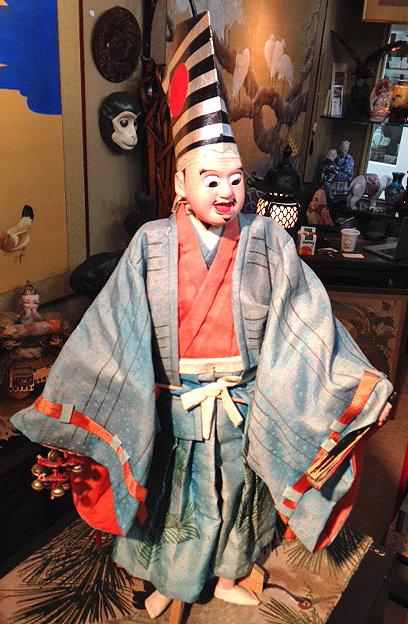 19th Century Fine Bunraku Puppet of a Sambaso Dancer