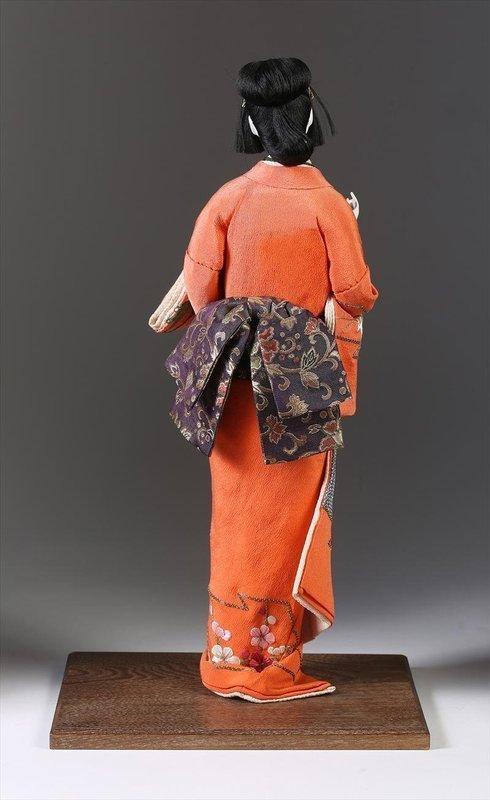 Japanese Standing Female Isho Ningyo of a Bijin, Meiji Period