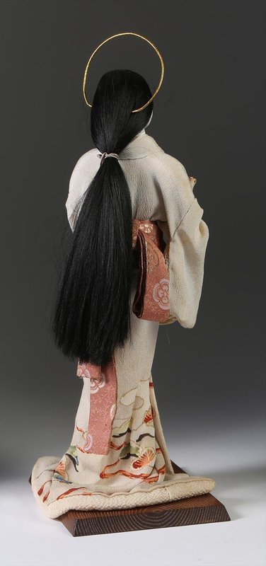 Japanese Ningyo of a Mother and Child or Mary and Child