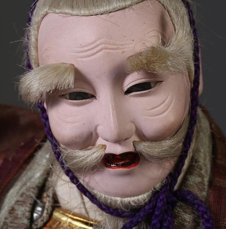Japanese Musha Ningyo of Old Minister Takenouchi, Meiji Period