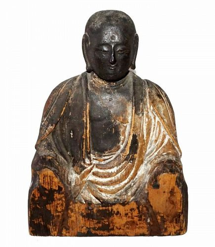 Very Rare and Sublime Japanese Heian Period Jizo Bosatsu Sculpture