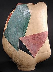 Michael Gustavson, Wedges, Large Rare Early Piece, 1986