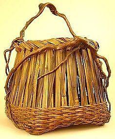 Very Fine, Early Ikebana Basket with Richly Hued Patina