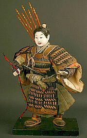 Edo Period Boy's Doll of Legendary Warrior in Childhood