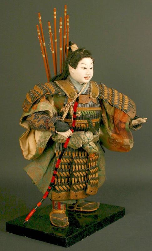 Edo Period Boy's Doll of Legendary Warrior in Childhood