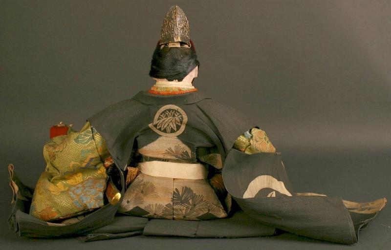 Japanese Musha Ningyo (Boys Day Doll) of a Court Figure