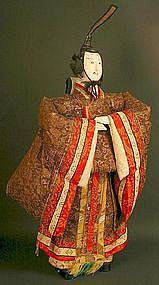 Japanese Isho Ningyo of Tenjin, God of Knowledge Doll