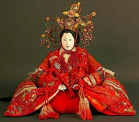 Beautiful Meiji Period Japanese Empress Girls Day Doll