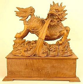 Large Japanese Okimono Sculpture of the Mythical Kirin