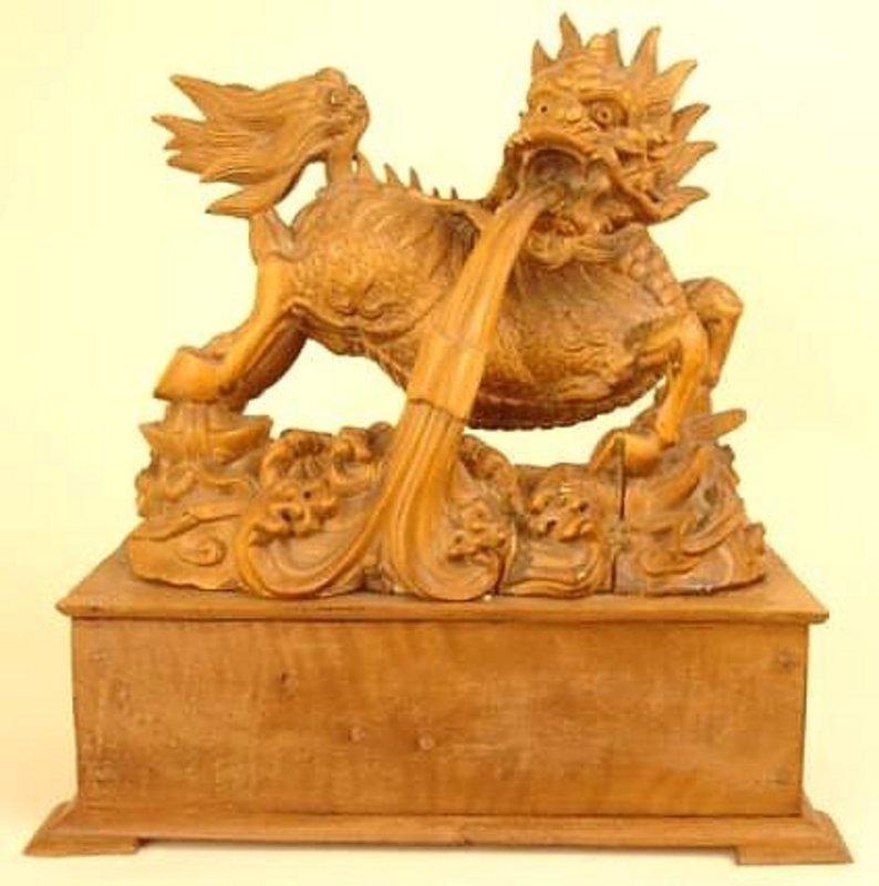 Large Japanese Okimono Sculpture of the Mythical Kirin