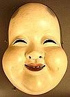 19th Century Japanese Okame, Goddess of Mirth Mask