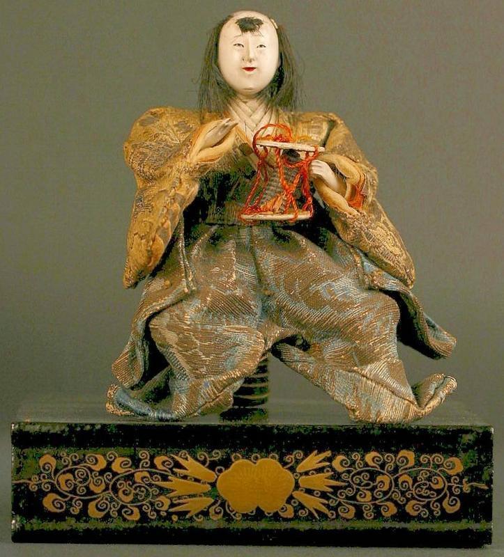 Rare Set of Five 18th Century Japanese Musician Dolls