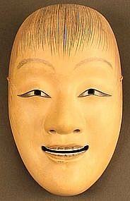 Fine, Pristine Japanese Edo Period Noh Mask of Shojo