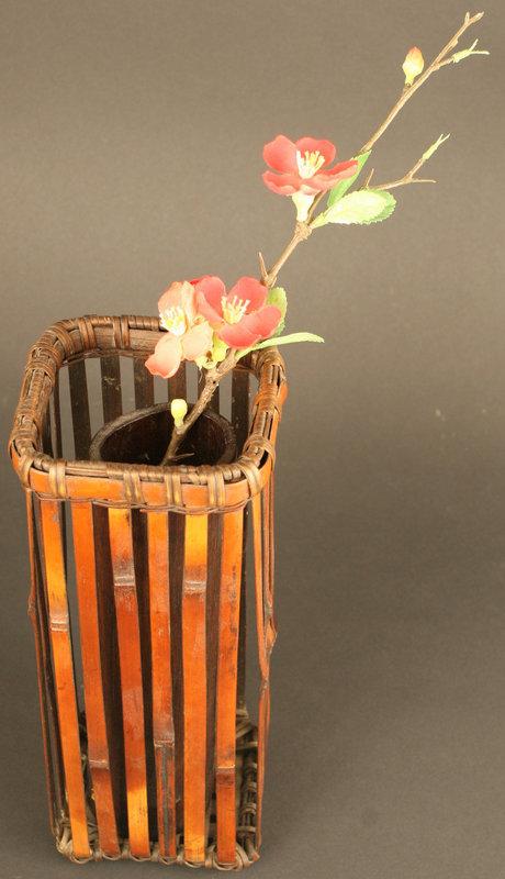 Signed Early 19th Century Ikebana Wall Basket by Mineko