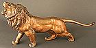 19th Century Japanese Bronze Roaring Lion Sculpture