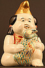 19th Century Japanese Porcelain Sculpture of Kintaro
