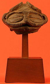 Fine Jomon Period Dogu Head with Good Provenance