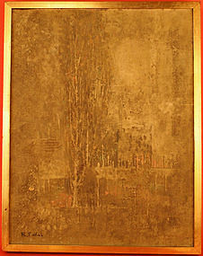 Landscape Oil Painting by Ryonosuke Fukui, 1962