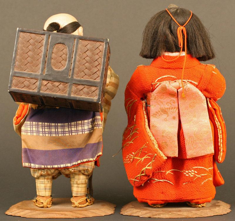 Isho Ningyo Couple, Tale of the Tongue Cut Sparrow